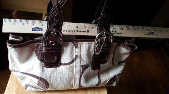 Coach Braided Leather Jacquard Signature Biege Tote in Beige/Ivory/Brown