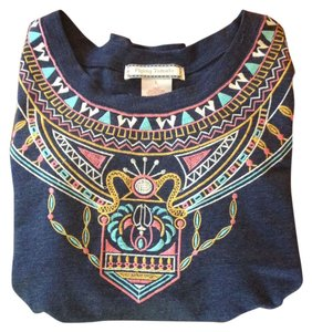 Flying Tomato Cropped Boho Tribal Sweater