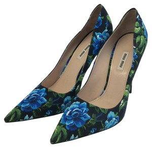 Miu Miu Black, Blue, Green Pumps