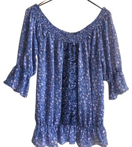 Free People Peasant Top Blue