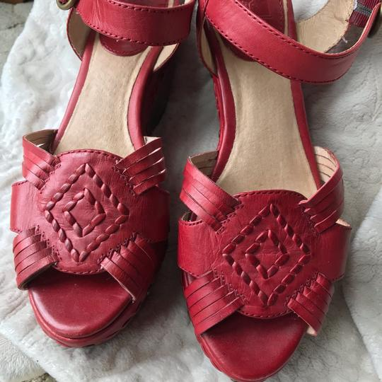 Frye Leather Leather red Wedges Image 2