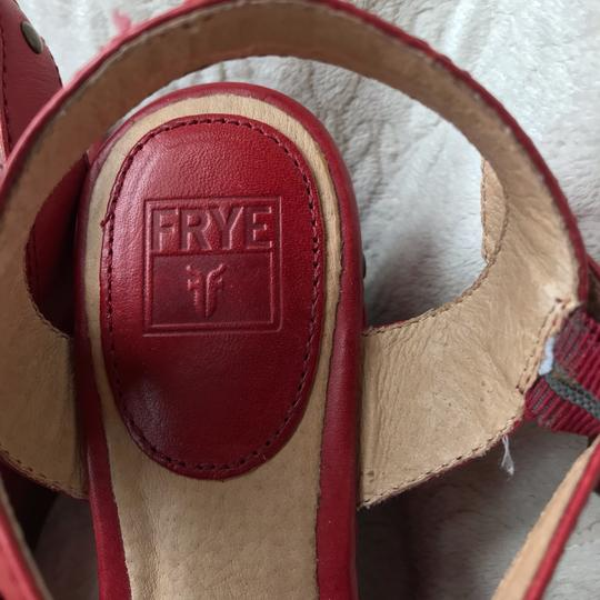 Frye Leather Leather red Wedges Image 3