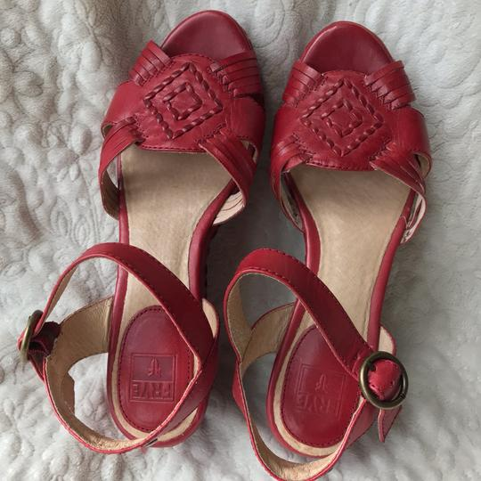 Frye Leather Leather red Wedges Image 9