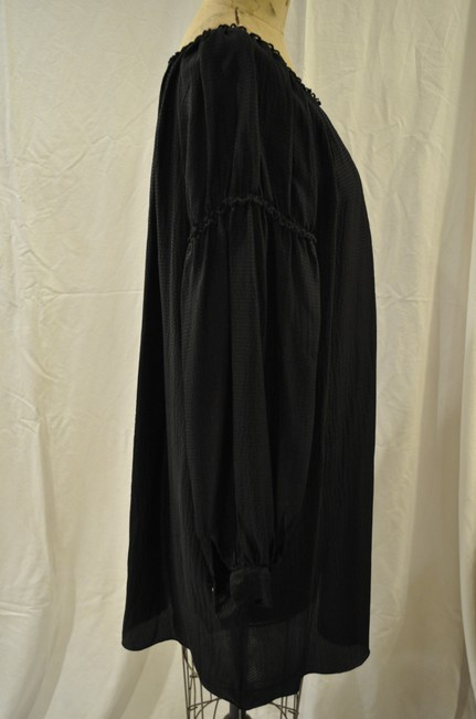 Max Studio short dress Black Boho Bohemian Silk on Tradesy