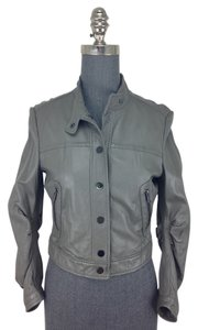 BCBGMAXAZRIA Gray Leather Jacket