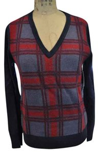 Equipment Argyle Plaid Sweater
