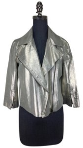 Robert Rodriguez Metallic Leather Jacket