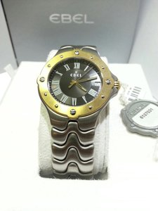 Ebel Ebel Men's Sportwave Watch Stainless Steel With Yellow Bezel, 6187631