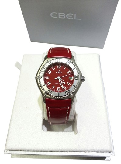 Preload https://img-static.tradesy.com/item/6716674/ebel-stainless-steelred-leather-band-discovery-men-s-case-strap-9187341-watch-0-1-540-540.jpg