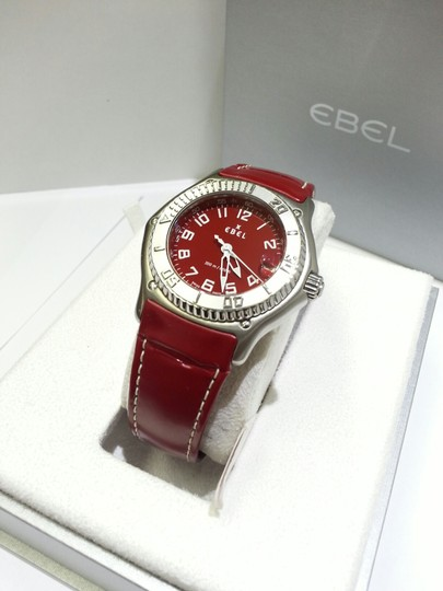 Ebel Ebel, Discovery, Men's Watch, Stainless Steel Case, Red Leather Strap 9187341