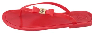 Tory Burch Flip Flopa Flip Flops Thong Jelly Casual Michael Kors Michael Kors Vacation Summer Beach Beach Beach Beach Wear Orange Sandals