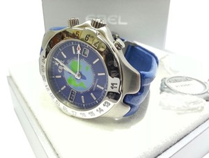 Ebel Ebel Men's Sport Voyager Watch With Blue Leather Strap