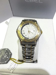 Ebel Ebel, Voyager, Men's Watch, Stainless Steel and 18 Karat Yellow Gold Bezel,1124913