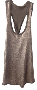Rachel Roy Sequin Tank Blouse Sequins Business Casual Top Gray