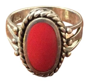 Other Red Coral (Moonga) Gemstone Ring
