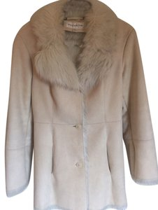 Jones New York Faux Fur Trench Suede Fur Coat