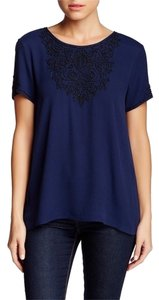 Joie Top Navy and Caviar
