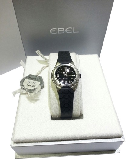 Preload https://img-static.tradesy.com/item/6717538/ebel-stainless-steelblack-robber-strap-e-type-ladies-9200c21-and-watch-0-0-540-540.jpg