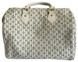 Louis Vuitton Satchel in Bleu/Grey/white