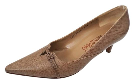 Salvatore Ferragamo Classic Light Brown Pumps