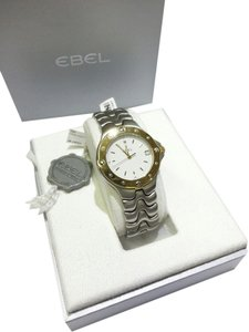 Ebel Ebel Men's Sport Wave Watch 6187631 Stainless Steel & Yellow Gold Tone Bezel