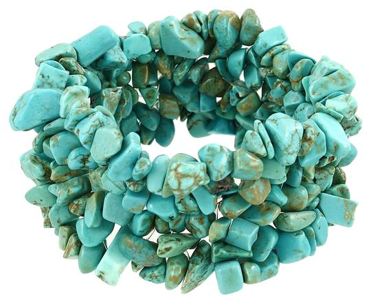 Other Boho Chic Turquoise Semiprecious Natural Gemstone Bracelet