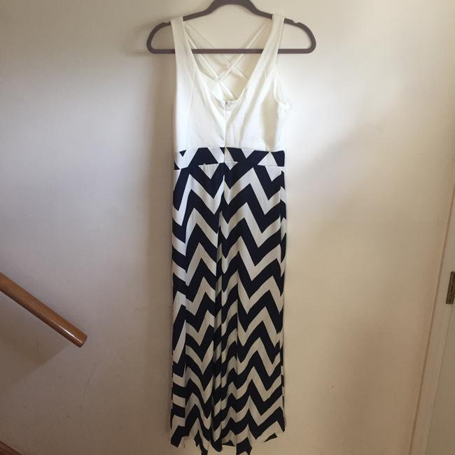 Blue, white Maxi Dress by Other Comfortable Breathable Sleeveless Maxi Striped