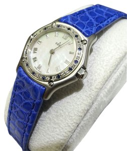 Ebel Ebel Ladies Classic, 9157116,Stainless Steel, Diamonds & Blue Sapphires, Mother of Pearl Dial