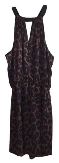 Preload https://img-static.tradesy.com/item/6719269/eight-sixty-black-brown-animal-print-romper-above-knee-short-casual-dress-size-4-s-0-0-650-650.jpg