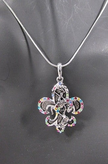 Alwaystyle4you Women Silver Necklace Rodeo Horse Western Boots Multicolor Stones Image 4