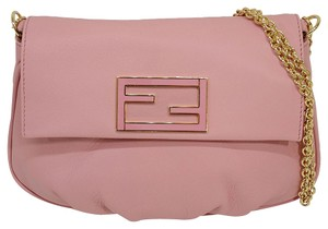 Fendi Leather Monogram Chain Shoulder Bag
