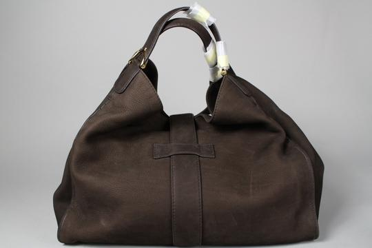 Gucci Stirrup Leather Hobo Tote in Brown Image 1