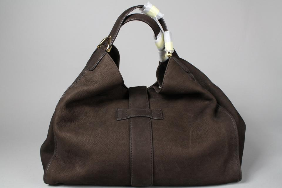 3d0e590e321 Gucci Stirrup Large Hobo Brown Suede Leather Tote - Tradesy