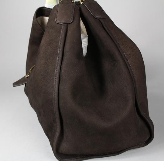 Gucci Stirrup Leather Hobo Tote in Brown Image 3
