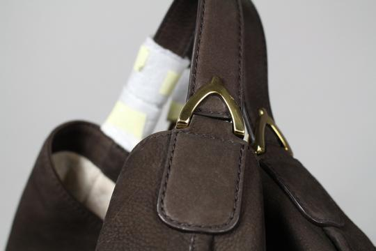 Gucci Stirrup Leather Hobo Tote in Brown Image 4