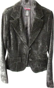 Hot Kiss Steampunk Steam Punk Gunmetal Gray Velvet Blazer