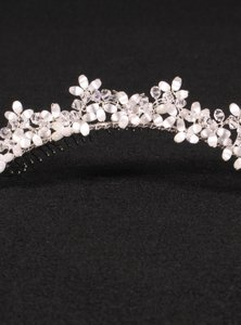 Silver with Glass Beads & Crystals Your Dream Dress Exclusive R3-4744 Headpiece Tiara