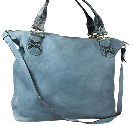 Preload https://img-static.tradesy.com/item/6719749/gucci-twice-and-python-tote-blue-suede-leather-satchel-0-1-540-540.jpg