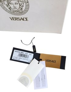 Versace Knee High Monogram On Back Black Boots