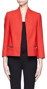 Sandro Jacket Cropped Open Front Red Blazer