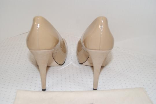 La Fenice Patent Leather Nude Pumps
