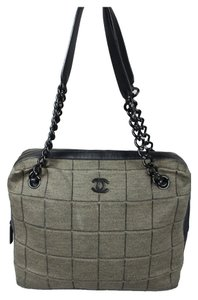 Chanel Tote in Green/Black