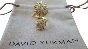 David Yurman Starburst Open Ring with Diamonds in Gold