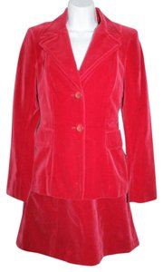 bebe BEBE Red Velvet Cotton 2-Pc. Dress Suit 2 4
