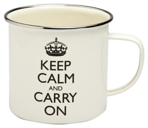 Wild & Wolf Set of 2 Wild & Wolf Keep Calm And Carry On Enamel Mugs