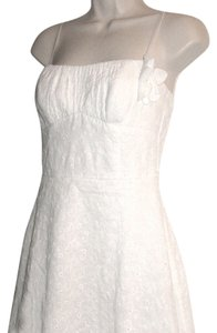 Ruby Rox short dress White Embroidered Fabric Bando Summer Spaghetti Strap Knee Length Summer Beach New on Tradesy