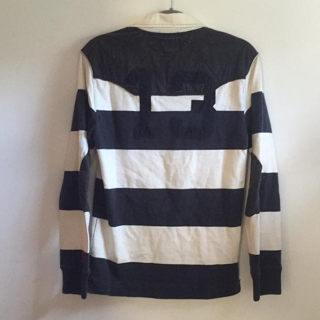 Rugby Ralph Lauren Vintage Distressed Bold Stripe Tassels Embroidered Sweater Image 1