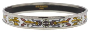 Hermès Hermes Narrow Bangle Enamel Palladium Plated Bracelet