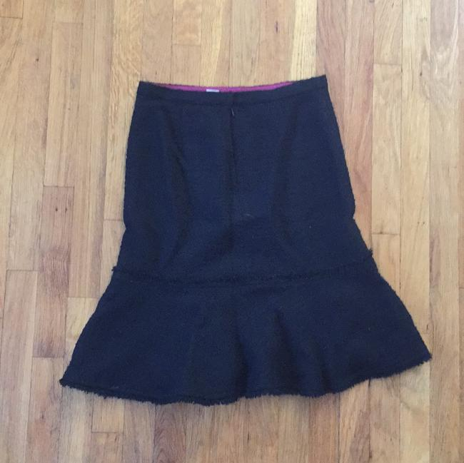 J.Crew Vintage Embroidered Bohemian Ruffle Casual Skirt Black
