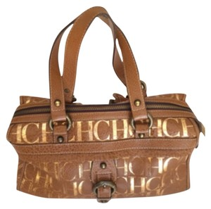 Carolina Herrera Satchel in Brown And Gold